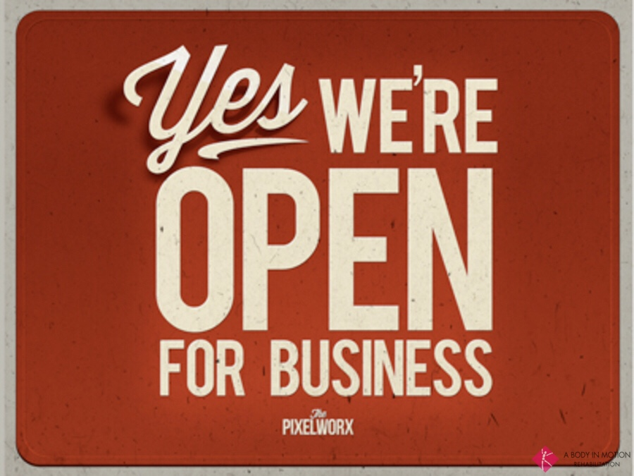 We're Open Today!