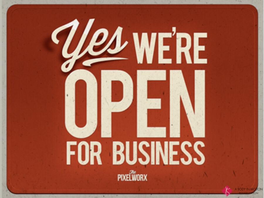 We're Open Today!