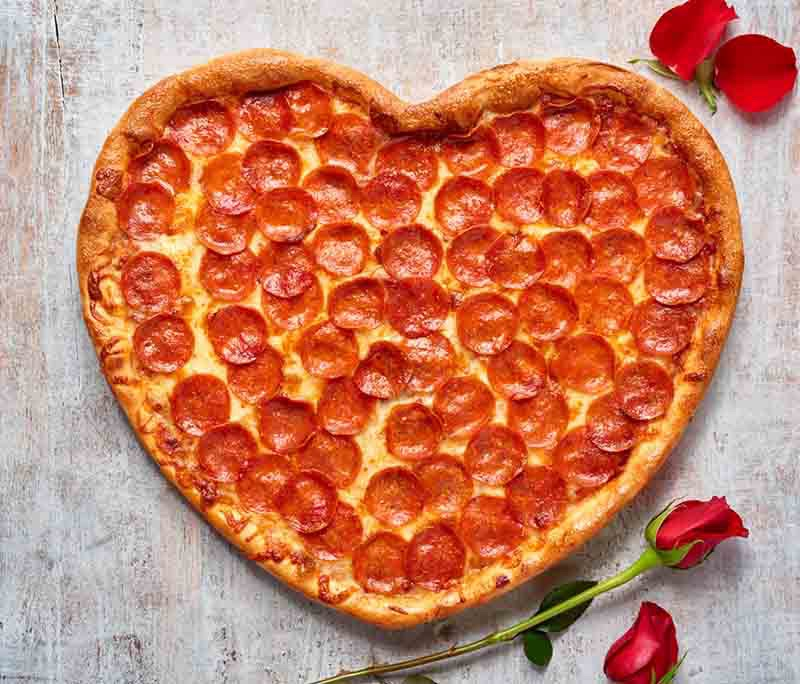 Heart Pizzas = Love
